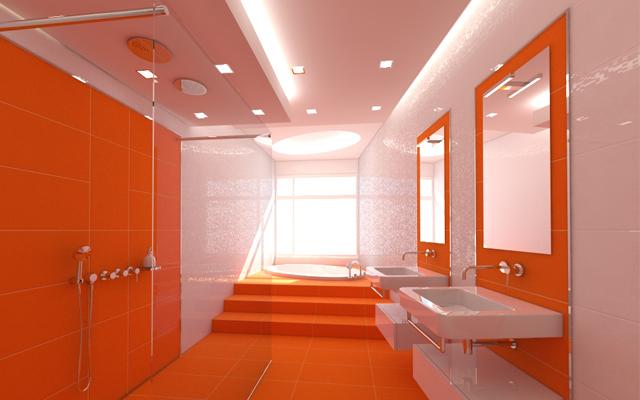 Psicolog a del color una ventaja competitiva for Great un bano con paredes en naranja de