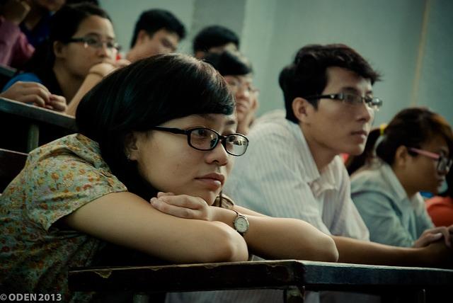 Estudiantes con lentes