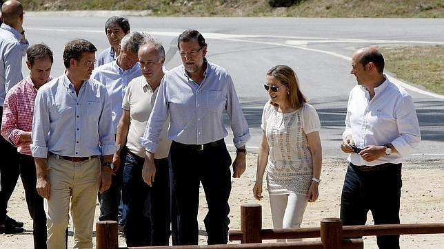Rajoy y comitiva
